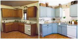 oak cabinets painted before and after