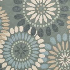 Toile Rugs Blue Floral Area Rug Roselawnlutheran