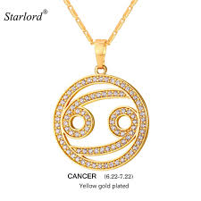 cancer colors zodiac designer necklace picture more detailed picture about 2017