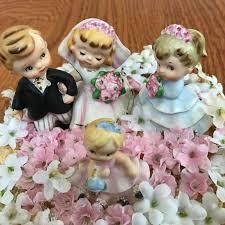 vtg bride u0026 groom bridesmaid flower ceramic wedding cake