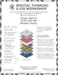 Gis Skills Resume Spatial Thinking U0026 Gis Workshop Enhancing Skills And Career