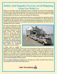 shipping to pakistan roro shipping to pakistan by shiptokarachi issuu