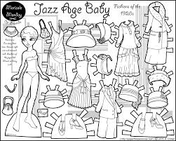 jazz age baby twenties fashion paper doll coloring