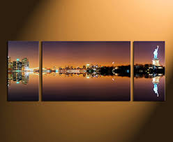 New York City Home Decor 3 Piece Canvas Photography New York City Wall Decor City Huge