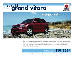 suzuki grand vitara 2006 brochure by suzuki auto usa