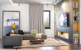 home interior accents 3 open layout interiors with yellow as the highlight color