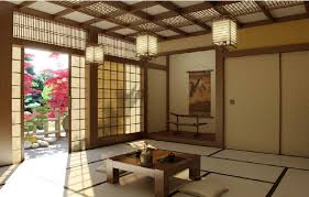 LivingroominJapanesestylewithwoodentable Home Japanese - Traditional japanese bedroom design