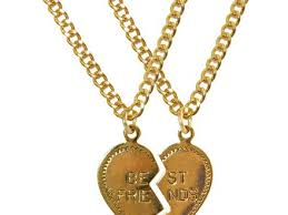 best friend gold necklace images 54 best friend charm necklace my best friend necklace heart charm jpg