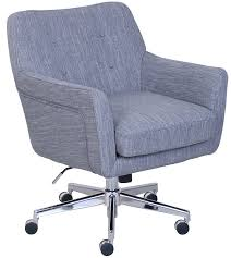 com serta style ashland home office chair twill fabric gray kitchen dining