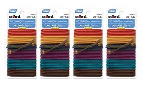 scunci hair 120 pack of scunci elastic hair ties groupon