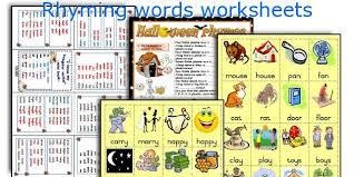 english teaching worksheets rhyming words