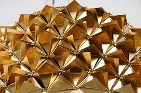 beautiful faceted tactile lights from traditional materials home