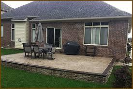michigan stamped concrete patios design installation concrete