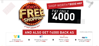 coupon rao central mall pay 4000 and shop for 8000 expired