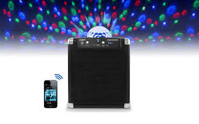 ion bluetooth speaker with lights party rocker wireless speaker system with built in light show