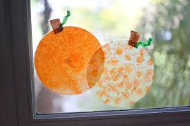 coffee filter u0027stained glass u0027 pumpkins i can teach my child