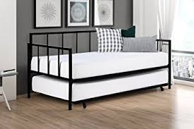 amazon com modern finlay daybed with trundle combo twin metal
