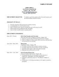 resume exles objective customer service exle of objective on a resume exle of objective in resume new