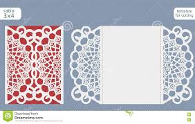 Laser Cut Invitation Cards Laser Cut Wedding Invitation Card Template Vector Die Cut Paper