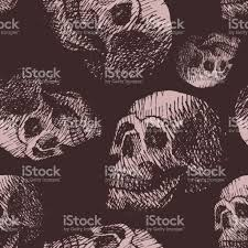 hand made human skull bone cranium face retro grunge vintage