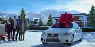 lexus car commercial like big bows on cars check out the lexus december to remember