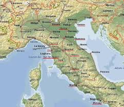 italy map map florence and siena italy