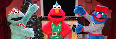 cookie monster and elmo halloween costumes elmo the musical live christmas edition sesame place