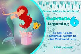ariel birthday party invitations cimvitation