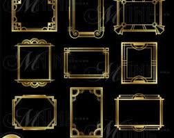 Art Deco Design Elements Gold Art Deco Border Clip Art Art Deco Design Elements