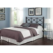 Steel Headboards For Beds Fashion Bed Group Marlo Black Steel Headboard Panel With Squared