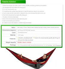 doublenest hammock alternative double parachute hammock from
