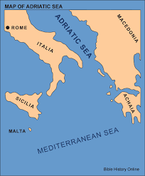 Where Is Greece On The Map by Map Of The Adriatic Sea Bible History Online