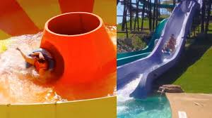 funny water slide fails water park fail youtube