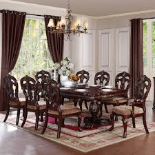 homelegance deryn park 9 piece double pedestal dining room set in