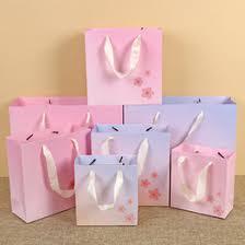 discount flower printed paper gift bags 2017 flower printed