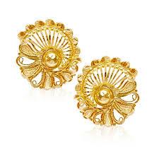 gold stud senco gold 22k yellow gold stud earrings