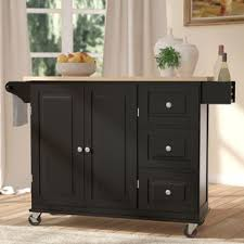 black kitchen islands black kitchen islands carts you ll wayfair
