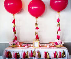 oversize balloons balloon with tassel in custom colors pink blue or gold