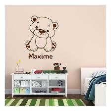 stickers nounours pour chambre bébé sticker ourson à personnaliser décoration nounours pour chambre enfant