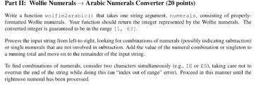 part ii wolfie numerals arabic numerals conve chegg com