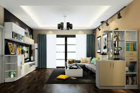 3d minimalist living room partition cabinet and ceiling windows