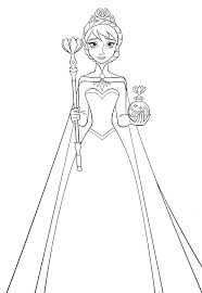 queen printable coloring pages