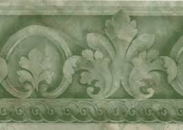 architectural wallpaper border green at700161 clearance