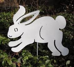 easter bunny garden stake or wall rabbit lawn ornament