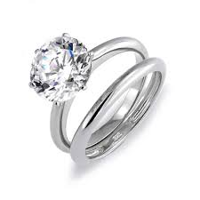 engagement and wedding ring set bling jewelry 3 5ct cz solitaire engagement wedding ring set