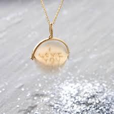 Disc Necklace Gold U0027i Love You U0027 Spinner Disc Necklace By Hurleyburley