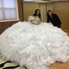 gipsy brautkleid luxus vestido de noiva robe de mariage 2017 glänzende weiße