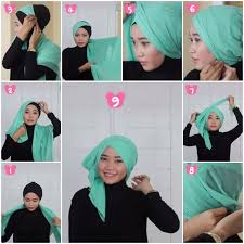 tutorial hijab turban untuk santai tutorial hijab turban segi empat square hijab tutorial turban