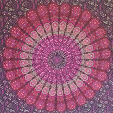 peacock mandala wall hanging tapestry throw bed sheet