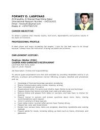 examples of resumes simple resume samples free format of sample